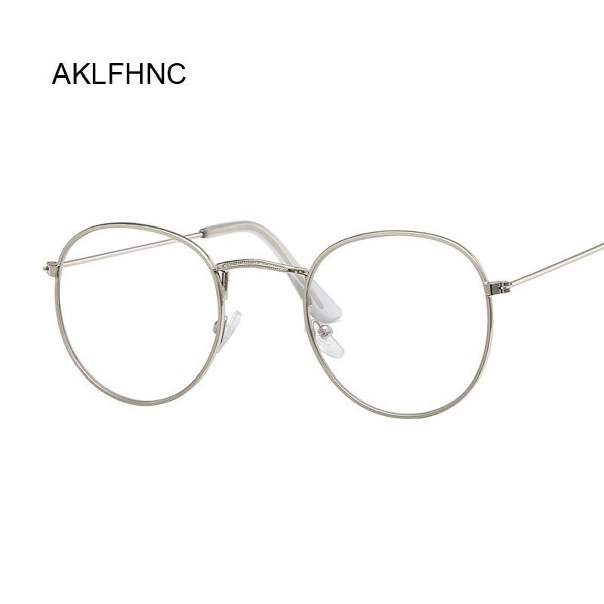 Best Quality New Design Half Round Transparent Stylish Glasses with Silver Frame For Men/Women