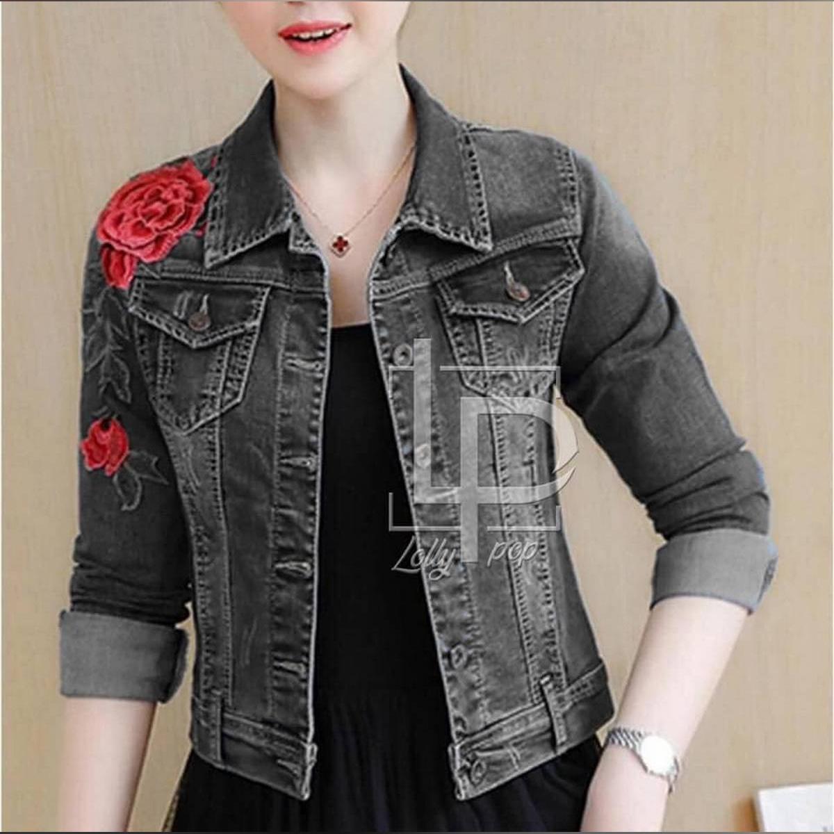 AZ-Stylish Denim Jeans Jacket For Ladies