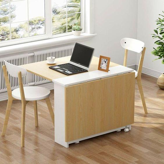 Multipurpose Fold-A Table: Space Saving Table - Adjustable Table- Dining Table - Office Table