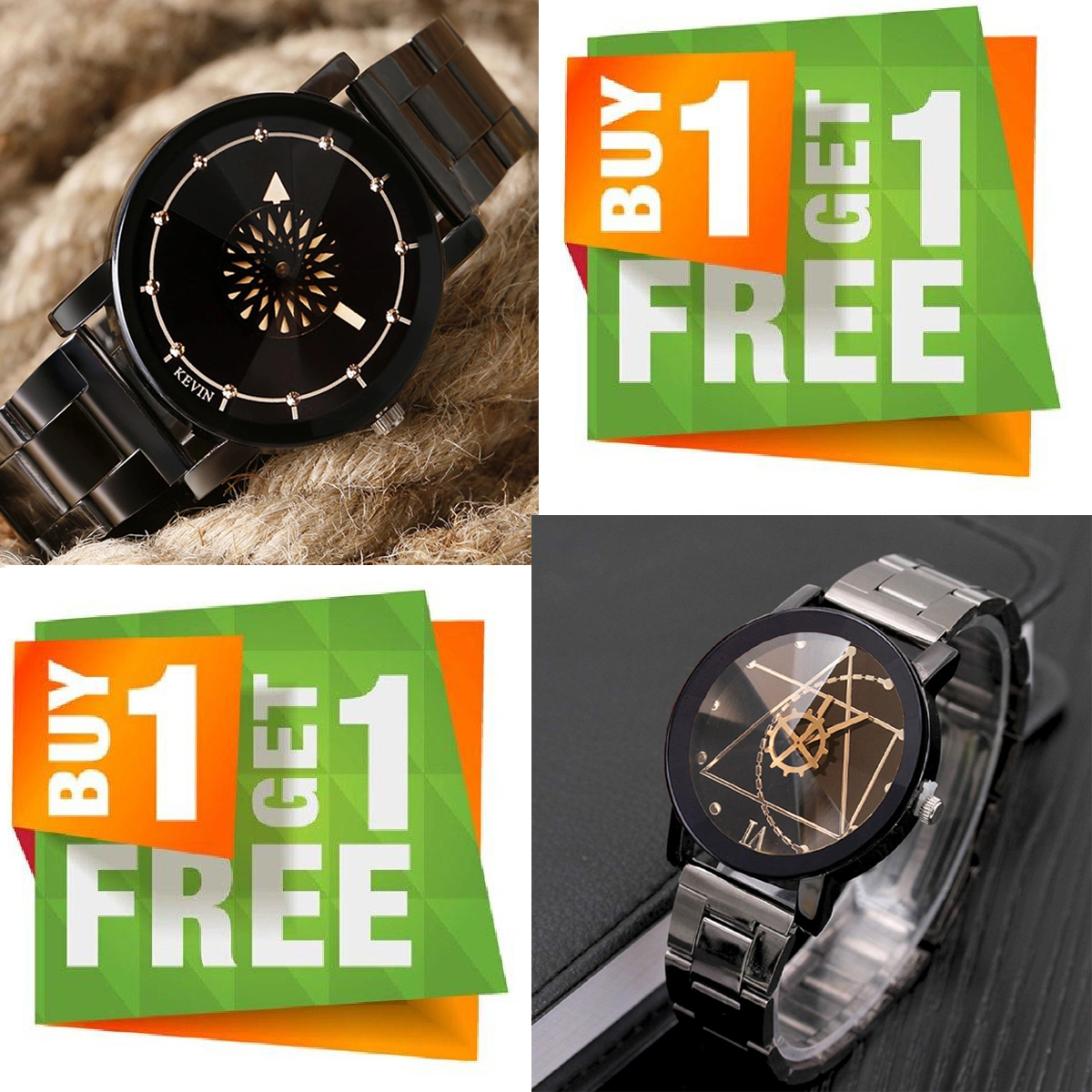 Pack Of 2 Party Pack Analog Wrist Watch For Man With Box