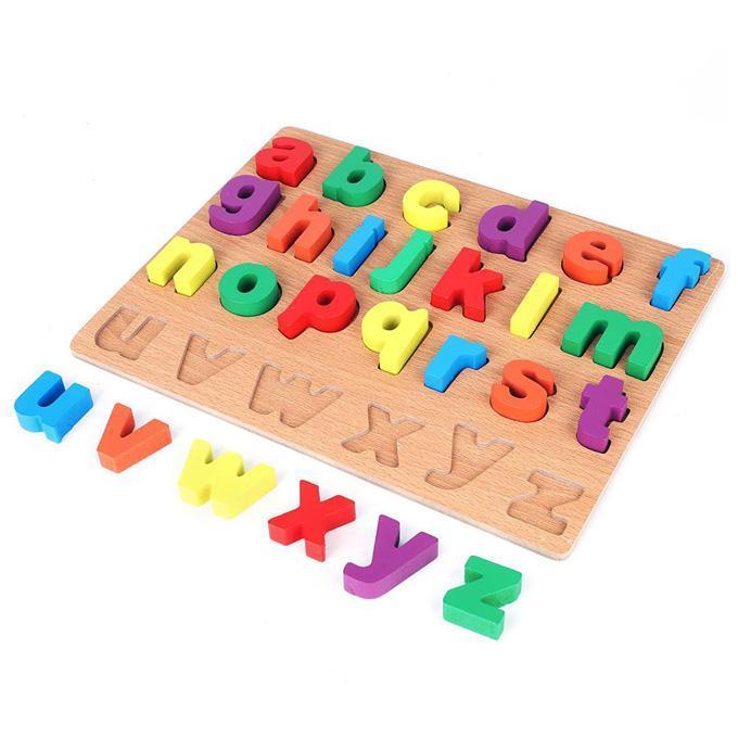 3D ABC wooden Plate
