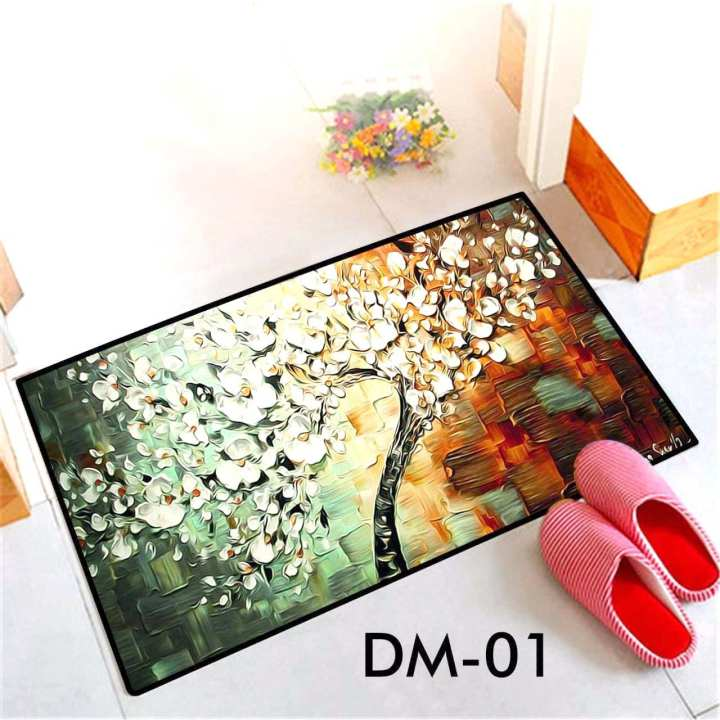 3D Velvet Antislip Dust Free Bathfroom Floor Mat  DM-01