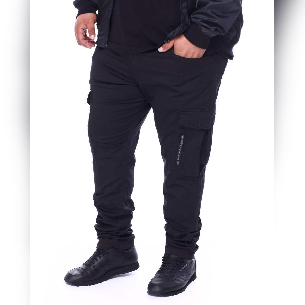 HASHBACK BLACK  STRETCHABLE CARGO