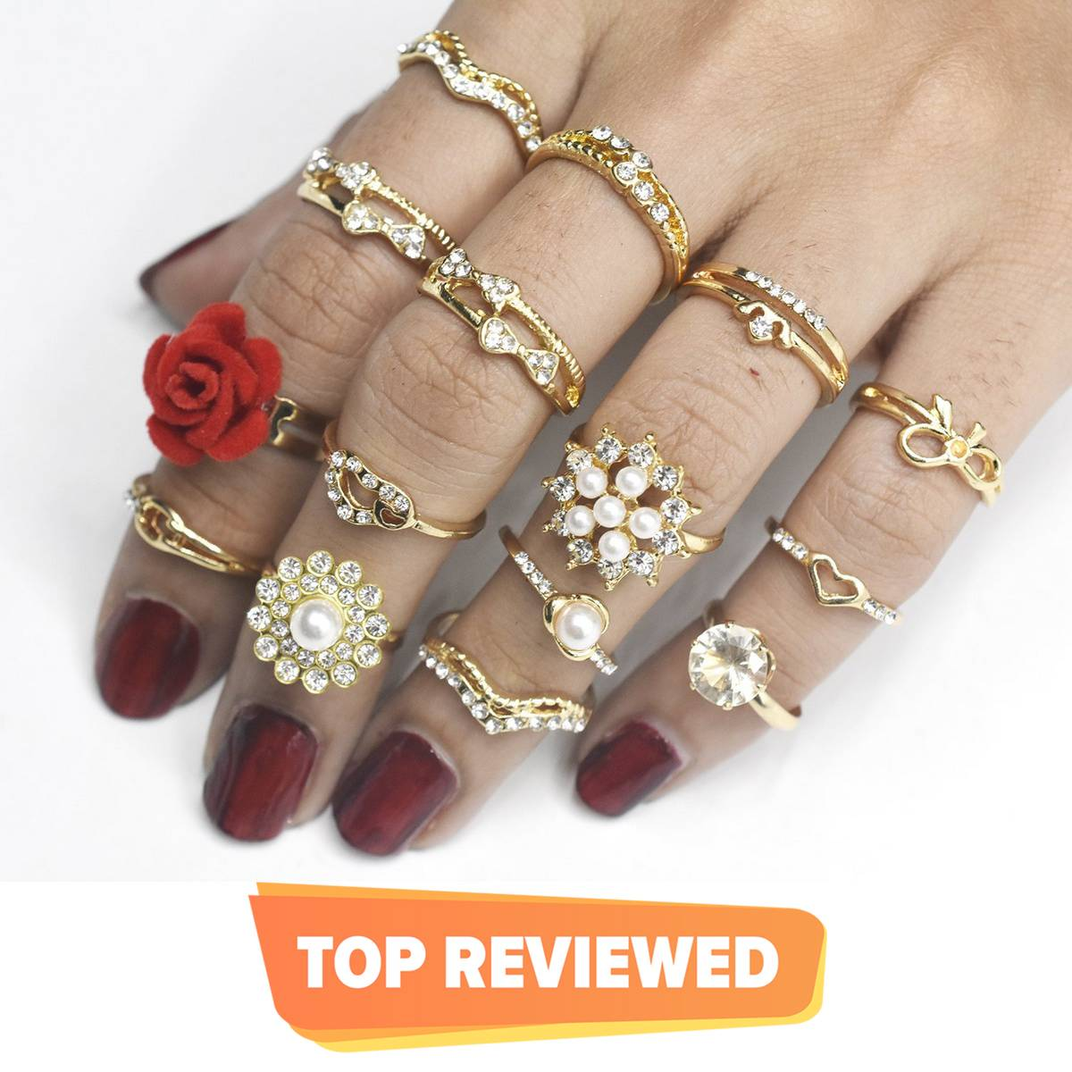 Charm Gold Color Midi Finger Ring Set for Women Vintage Boho Party Rings Punk Jewelry Gift for Girl