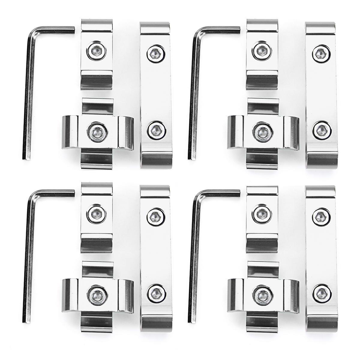 Engine Spark Plug Wires Separator Divider Clamp Kit For 8mm 9mm 10mm Silver