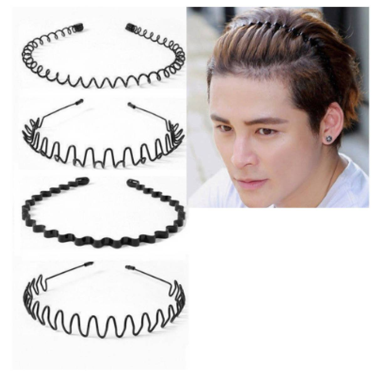 Fashion Infinity New Arrival Pack of 4 Hair Bands For Men & Women