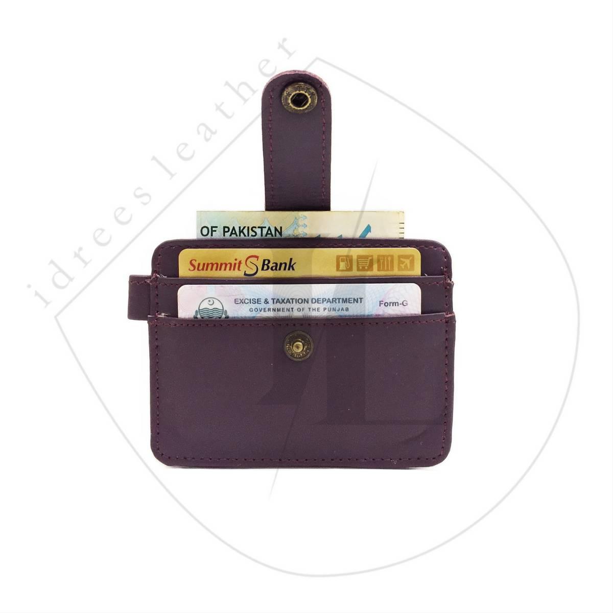 100% Genuine Unisex lockable Leather Card Holder+5pockets+1pen holder for Men/Women   [New&Exclusive] Mini Slim Leather card holder for Men, Stylish Slim Wallet for Men, Boys, and Women.