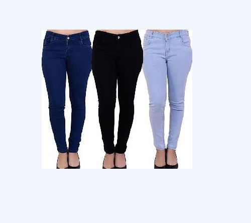 Pack Of 3 Stylish Plain Jeans For Women Ukcollection