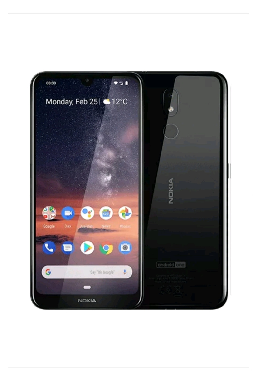 Nokia 3.2-6.3 Inches Hd Display 3gb 64gb With Fingerprint Sensor