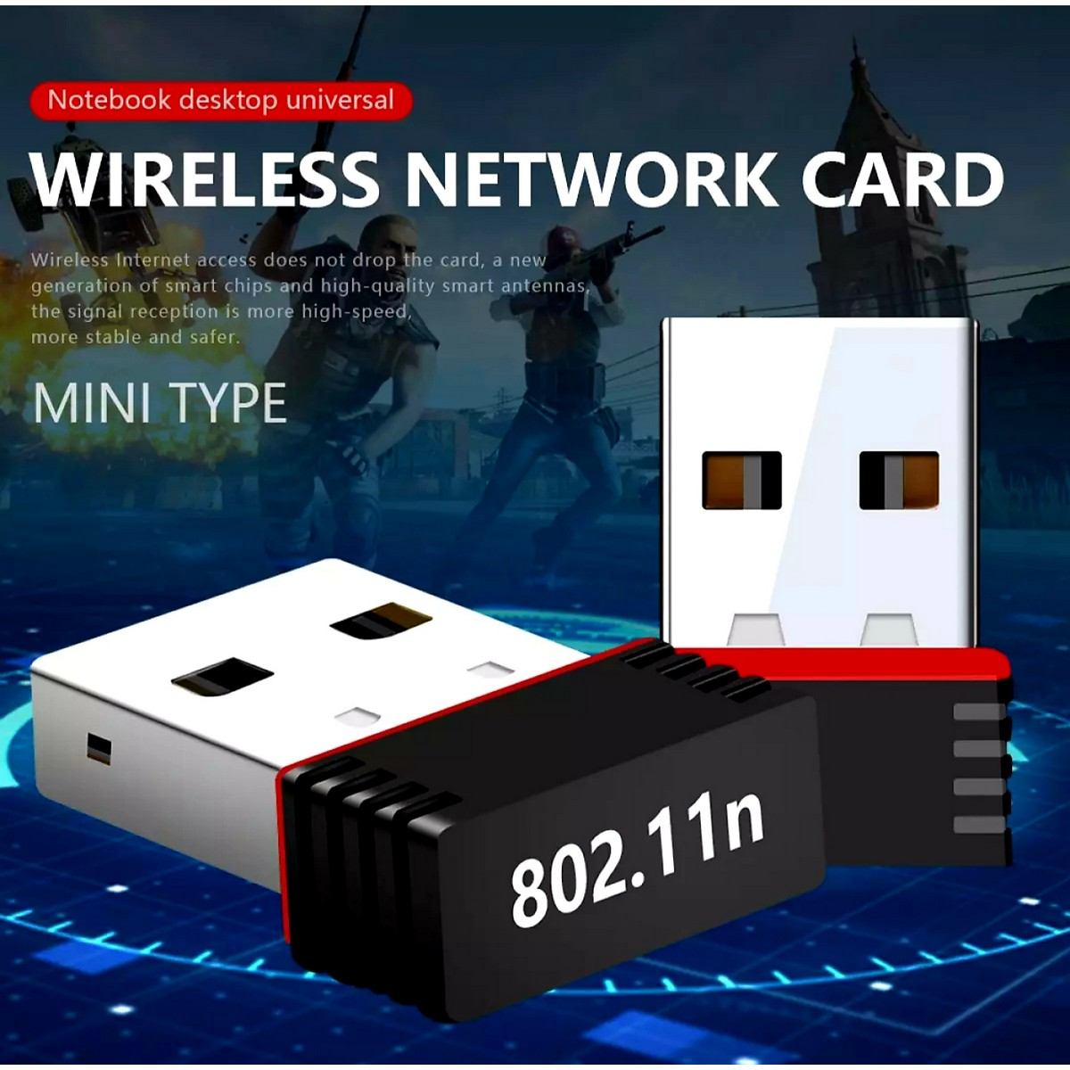 Mini Alfa WiFi Adapter Dongle Receiver Network USB WiFi Bluetooth - Wifi Bluetooth - Stronger Signal Gain Devices - Signals Transmission Device