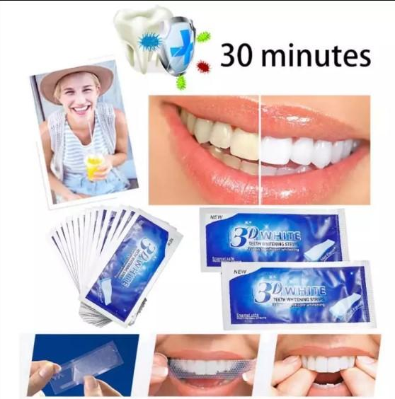 3D White Gel Teeth Whitening Strips Tooth Dental Kit Tooth Bleaching Whiter Strips Essentials Oral Hygiene Care