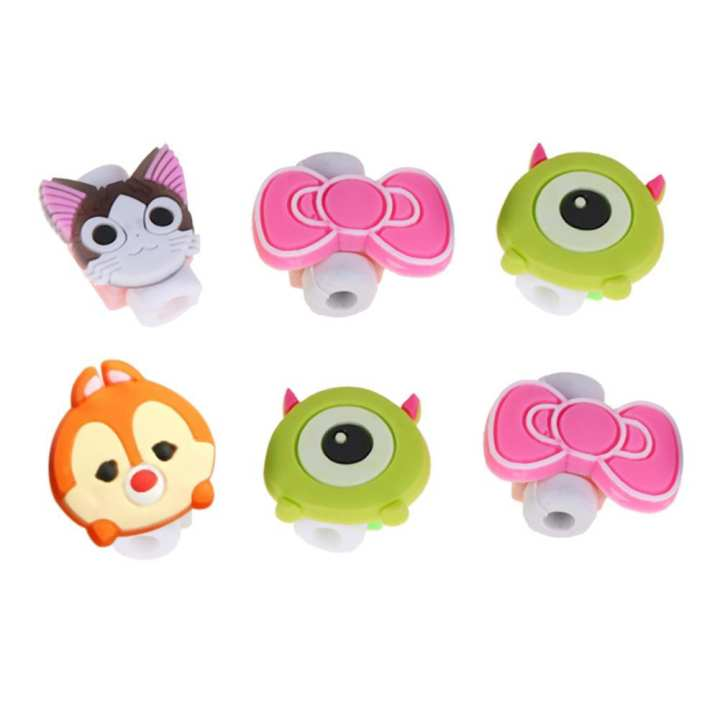 Cartoon Cable Protector Data Line Protective Cover Charging Cable Winder