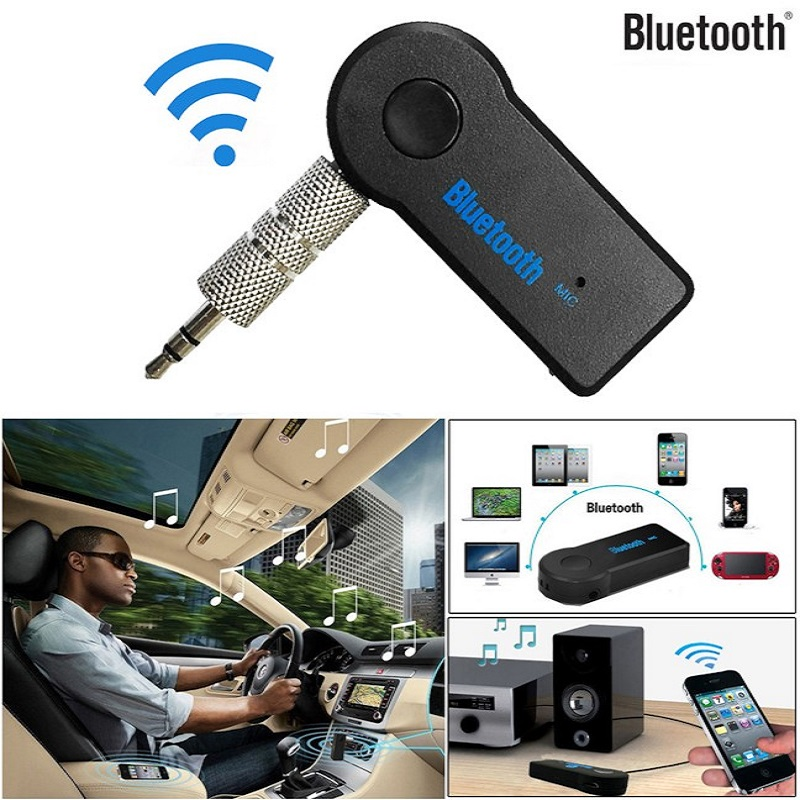 Car Wireless Bluetooth Receiver Adapter 3.5Mm Aux Audio  Rechargeable