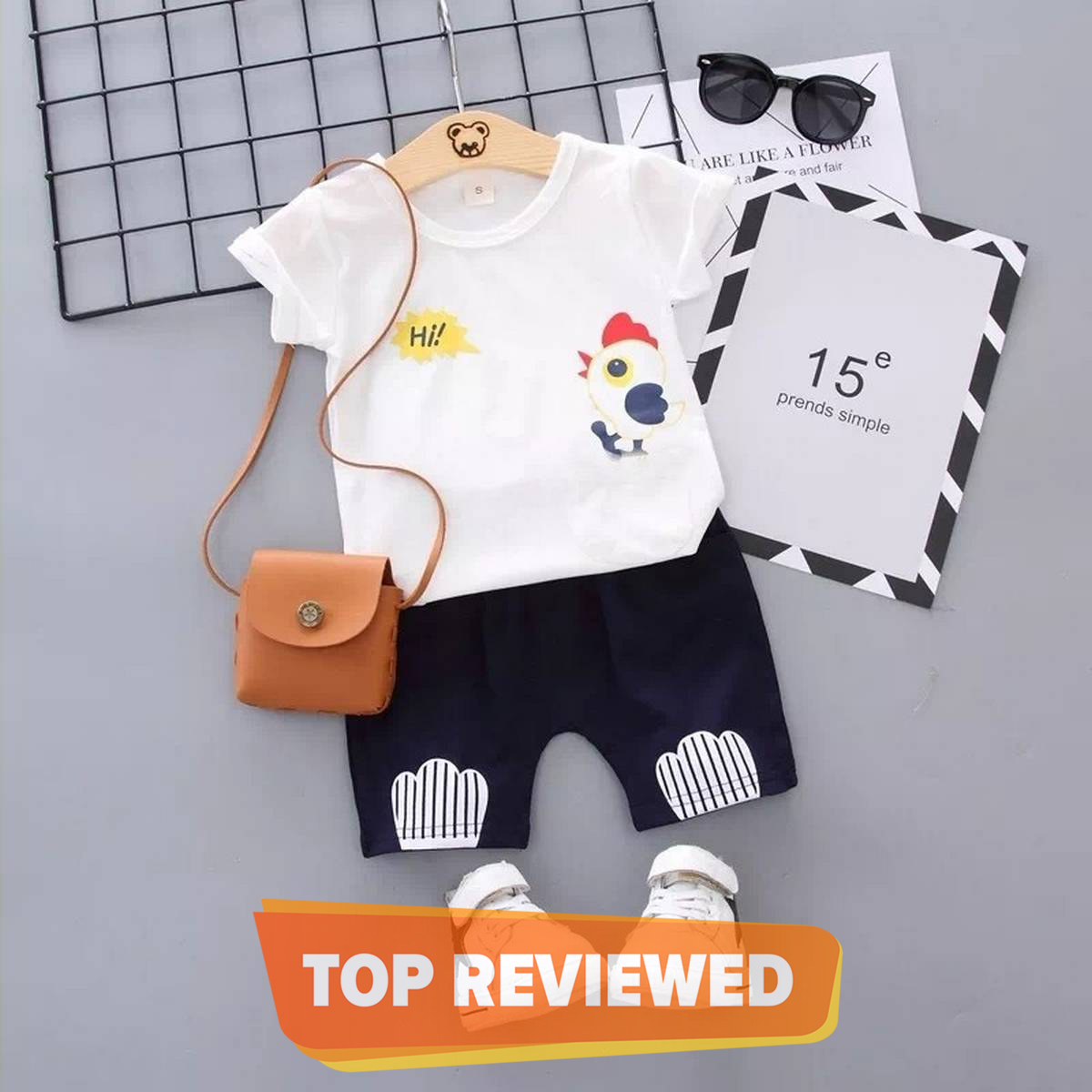 T-Shirt And Short Pant For Kids Baby Boys And Girls Round Neck Short Sleeves Tee Tops Clothes Sets Dresses Outfit