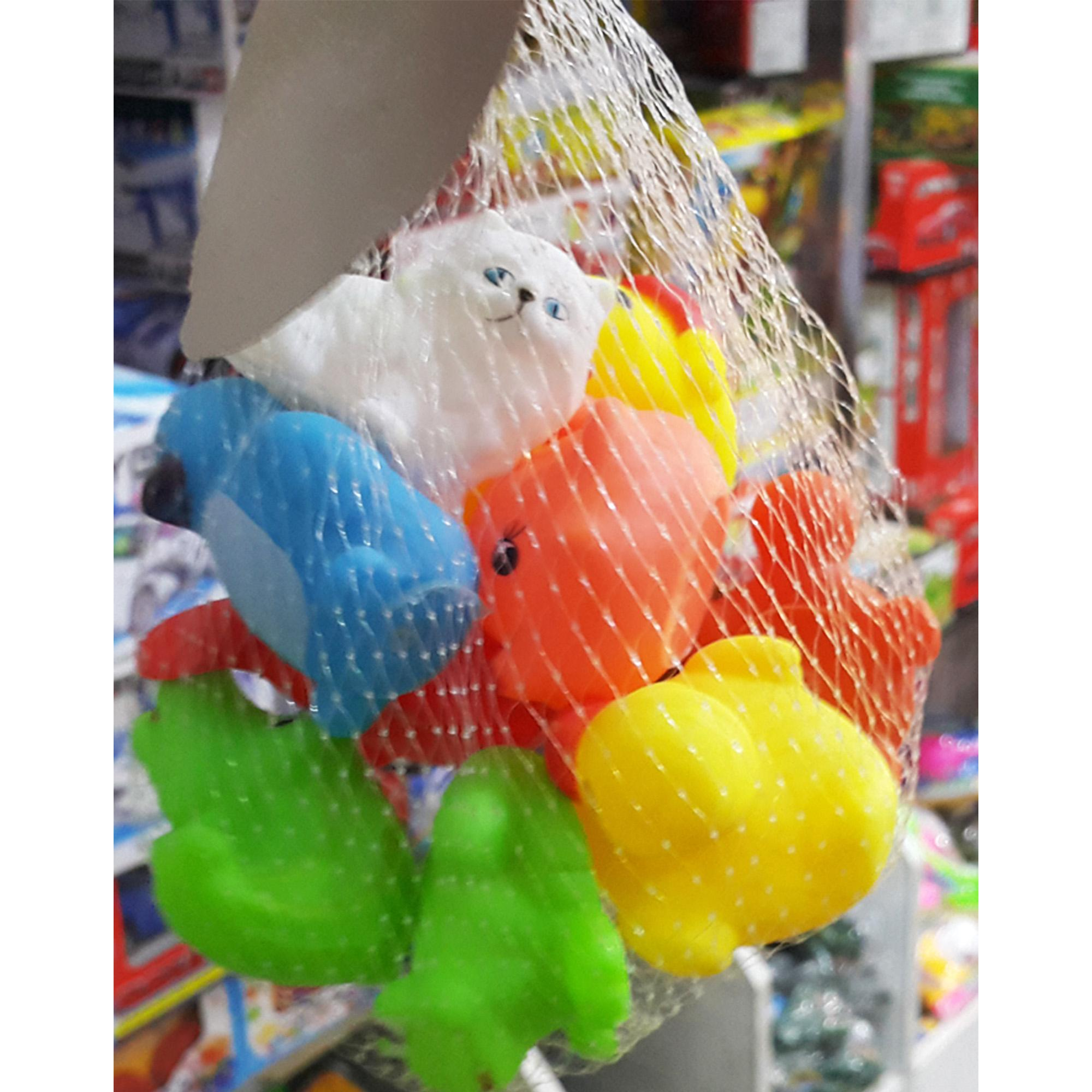 Cutest Squishy Toys/Whistle Rattle Packed in Net - NC