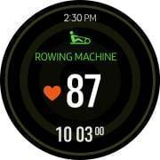 Galaxy Watch Active automatically tracks activity and inform activity types, heart rate, activity time.