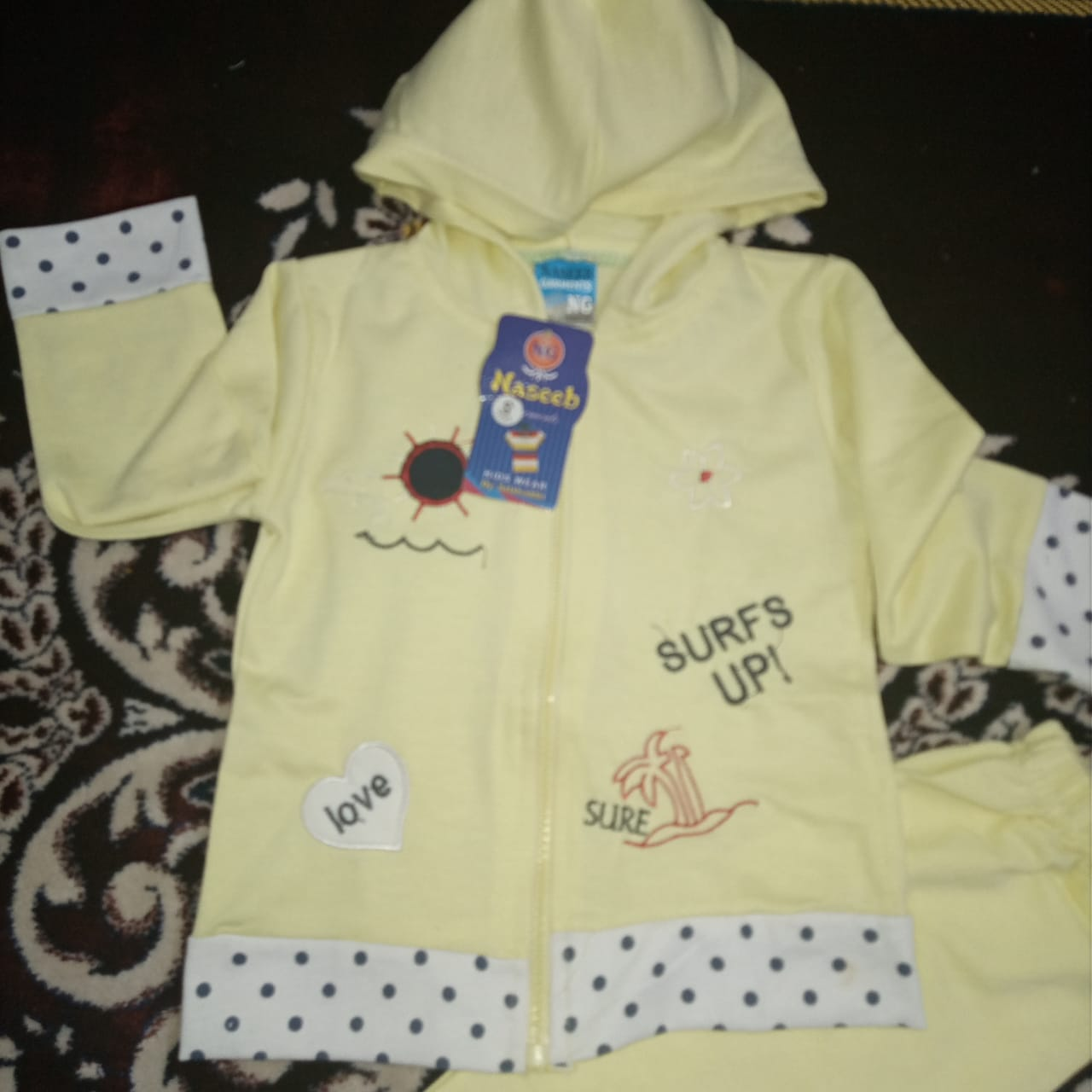 Toddler Baby Suit  Zipper Hoodie and trouser