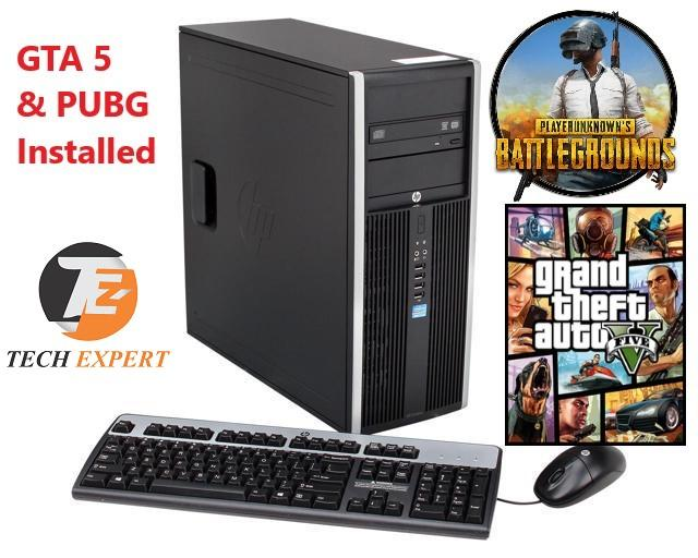 HP 8200 Tower Ci5 - 3570 3rd Gen, 8GB, 500GB, DVDRW, Win10 Pro, (With GTA 5  &PUBG Games Installed)