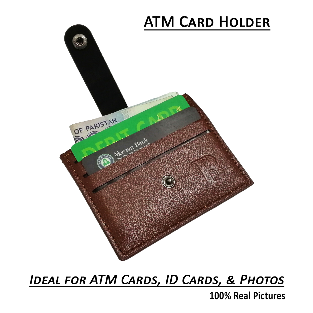 Hot Selling Mini Wallet for ATM Cards Space Saving Card Holder Wallets for Unisex in 3 Styles in Black and Brown