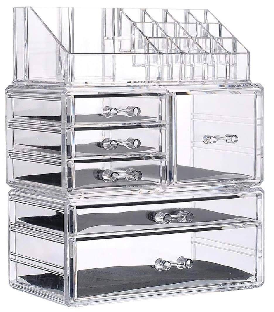 Makeup Organizer Acrylic Cosmetic Organizer Jewelry Storage Organizer Counter Storage Case Large Display Drawer