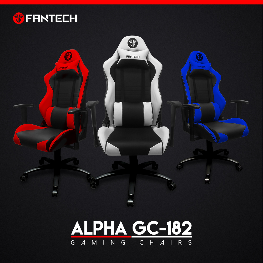 FANTECH ALPHA GC-182 Gaming Chair With Ergonomic Leather Head And Lumbar Back Class 4 Hydraulic Piston