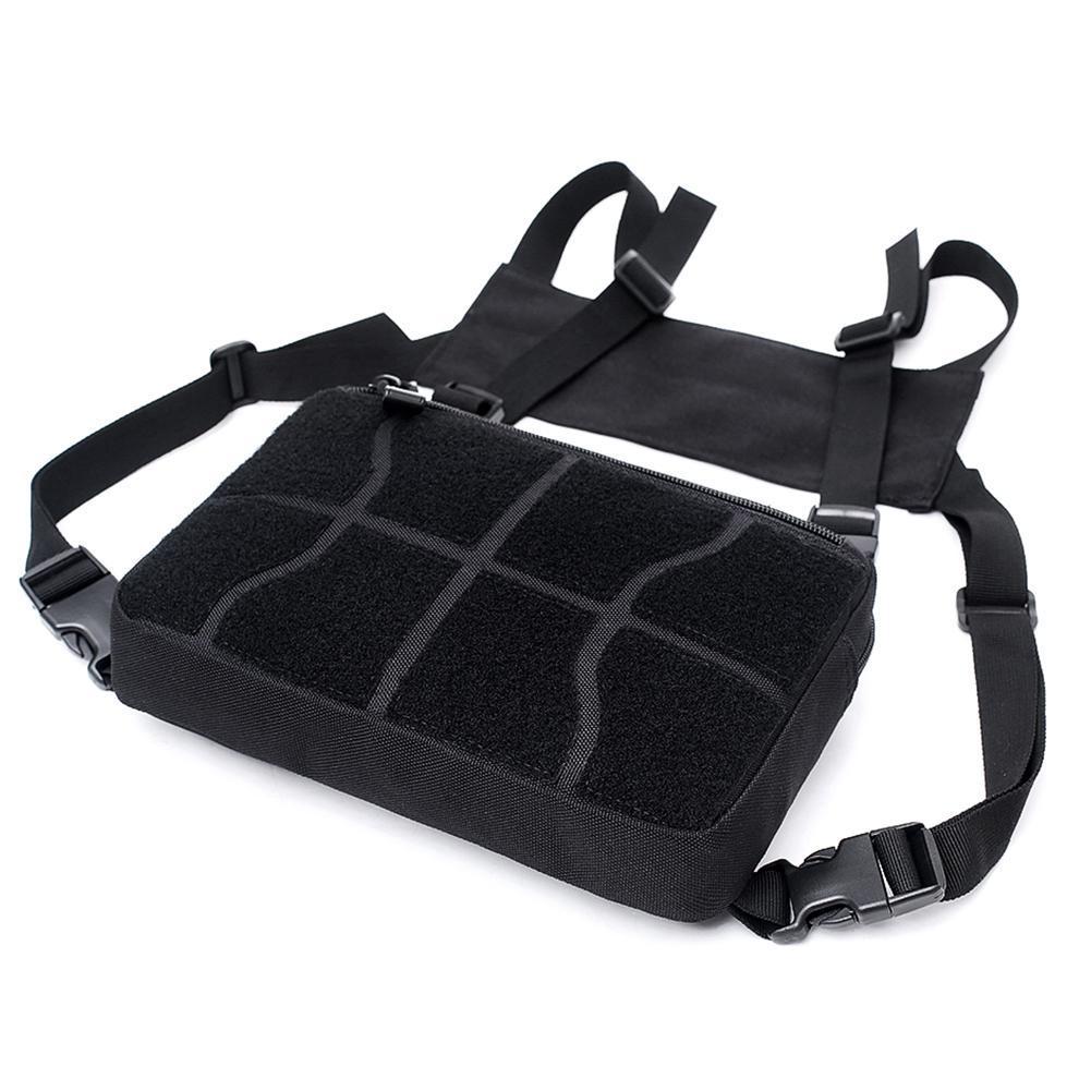 Adjustable Chest Rig Waist Hip Hop Cross Shoulder Bag Outdoor Men Women Nylon