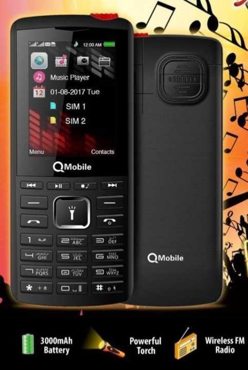 Qmobile x5030 - 2.4 inches display - 3000 mAh battery - Black