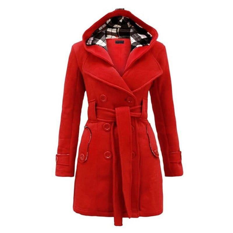 Bidiwala Winter Wear Upper / Smart Look Men Checkered Hooded Trench Jacket / Upper Jacket / Upper for Men / Winter Top / Button Style / Latest Design