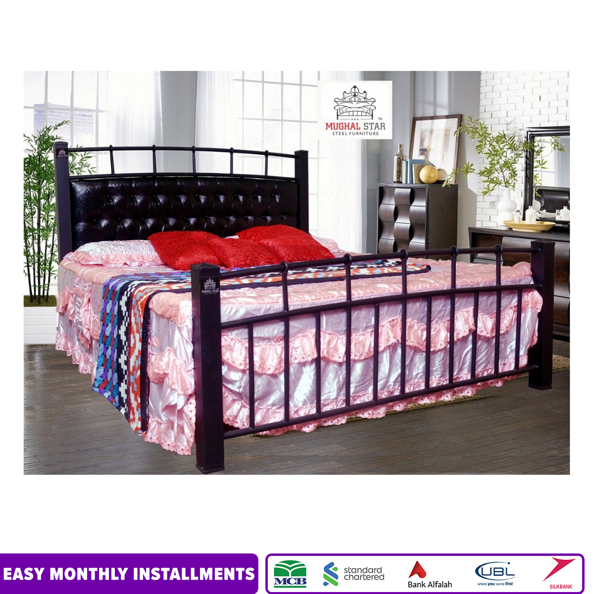 Galaxy Bed with Poshish /Wrought Iron Bed/Double bed/King Size