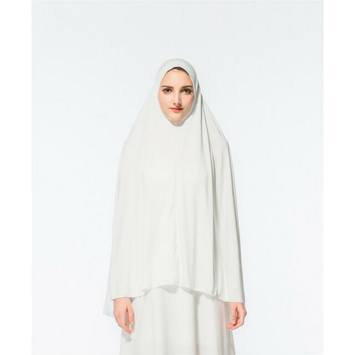 Cotton Jersey Egyptian Prayer Long Scarf Hijab Islamic Large Overhead Shawls Wrap