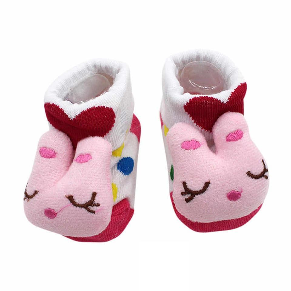 Infant / Newborn Babies Shoes / Socks Type Booties / Fancy Socks In Multicolour