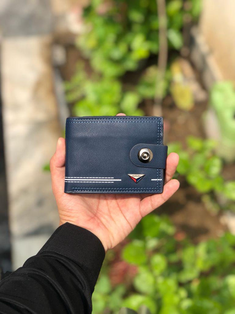 Dunbollu2021NewGenuine Leather Men Wallet Small Mini Card Holder Male Walet Pocket Retro purse High quatily magnetic lock.