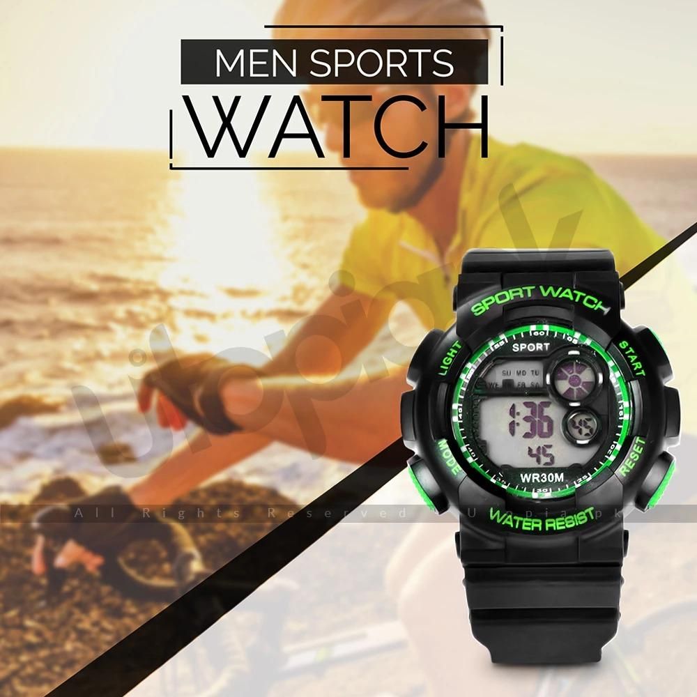 Digital Sports Wrist Watch - MultiColor