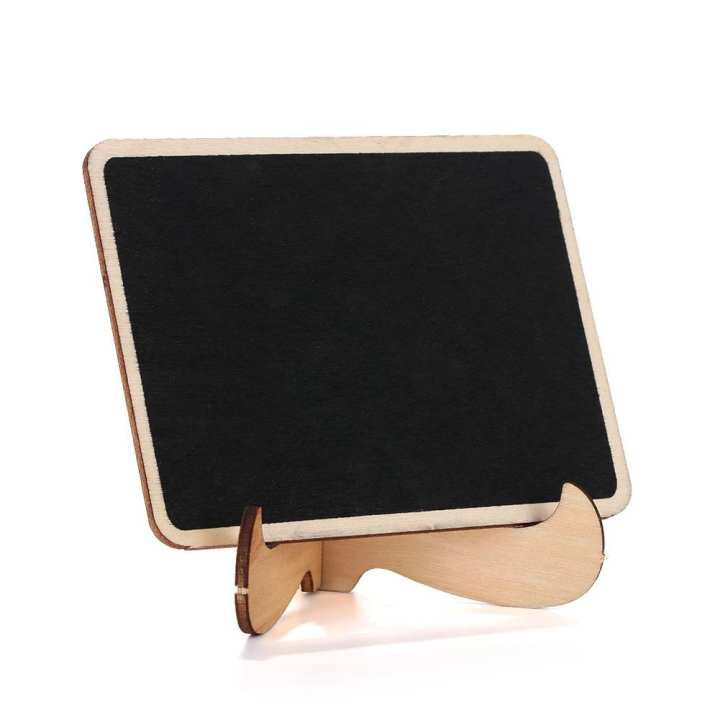 Wooden Table Blackboard Wedding Party Desk Stand Message Notes Name Chalkboard