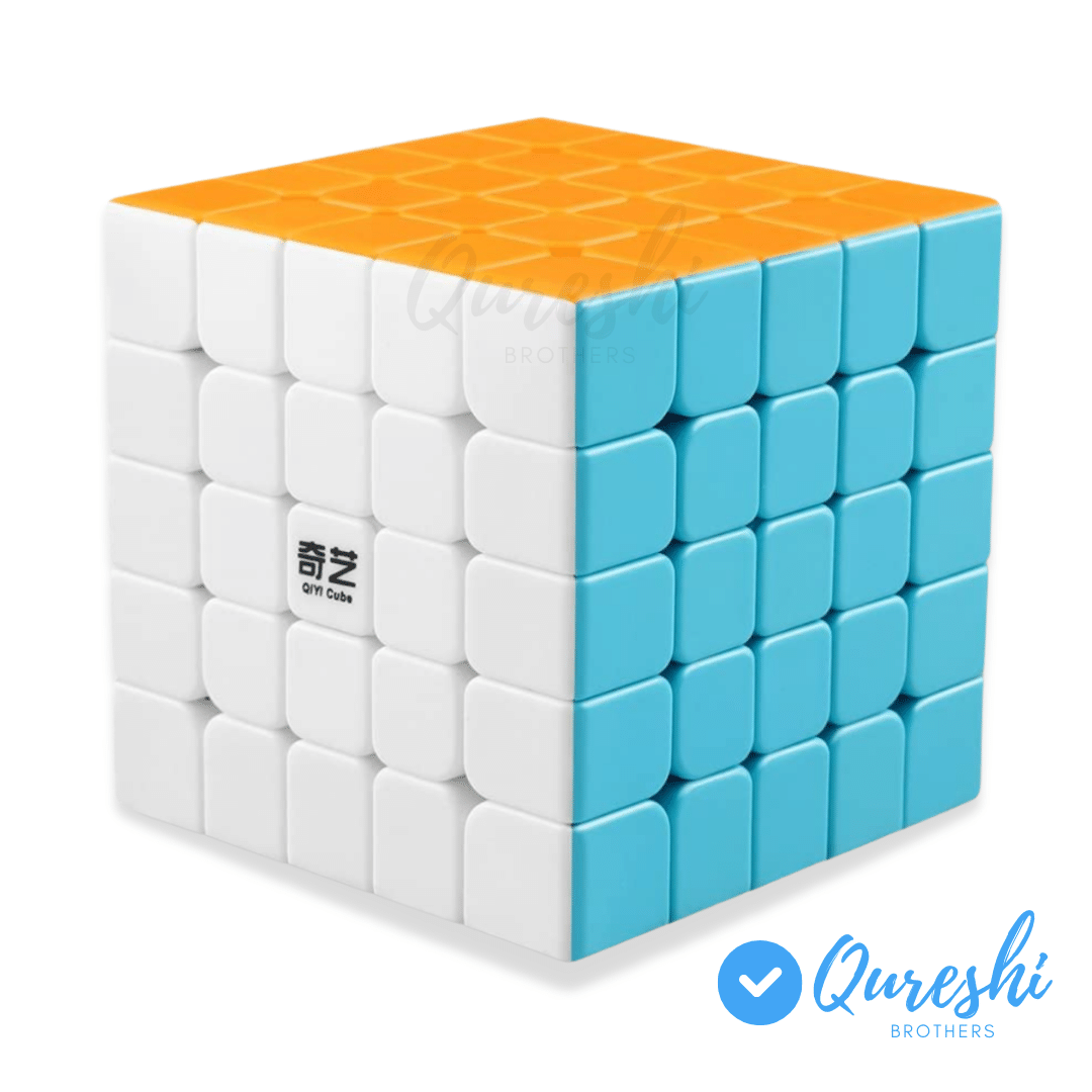 Qiyi Qizheng S Rubiks Cube 5x5- Stickerless Magic Speed Cube 5x5x5 Puzzle Toys , The Most Educational Toy to Effectively Improve Your Child's Concentration, responsiveness and Memory - Rubik's Cube