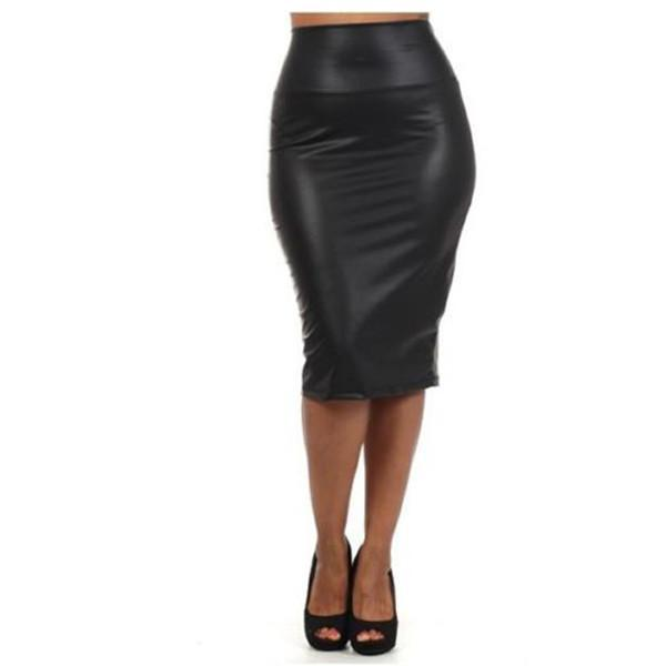 93c508e57c Women Sexy Black Pencil Bodycon High Waist Mini Dress Short Skirt