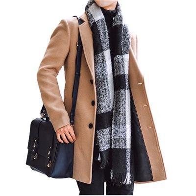 ee57953cf Khaki New Style Winter Men's Casual Trench Coat Windbreaker Overcoat Long  Jacket.