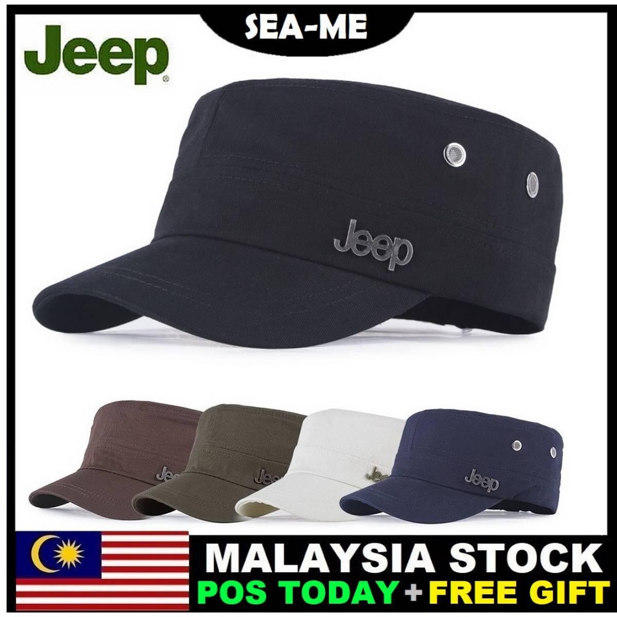 Military Style Jeep Army Flat Cap Vintage Baseball Cap Sport Sun Hat