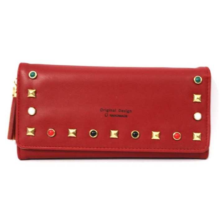 Ladies 3 Step Fold Beats Wallet Handbag Phone Pouch  For Women
