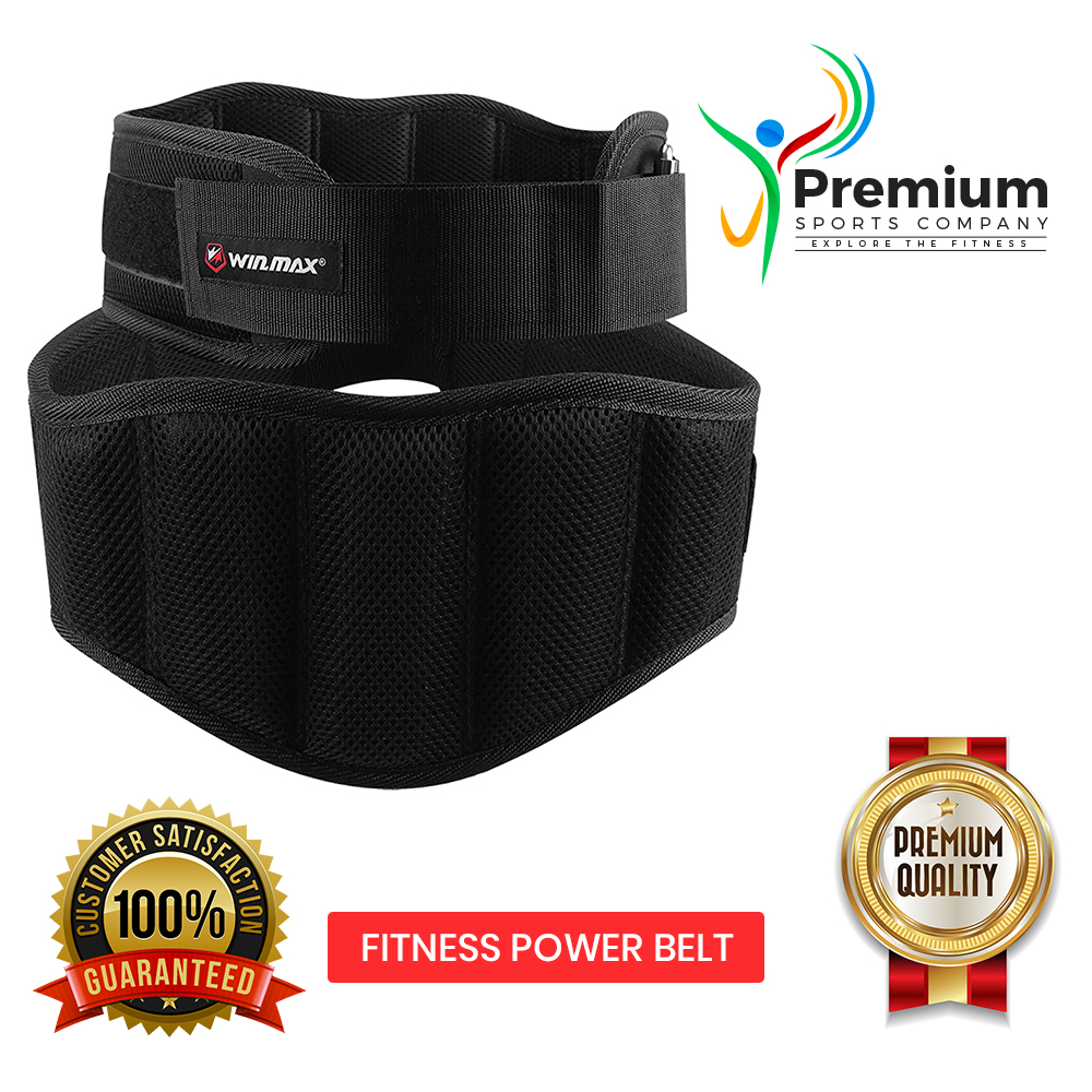 PREMIUM SPORTS Pro Action Weight Lifting Gym Fitness Power Belt - Neoprene Padded - Back Pain Support Belt - Great for Body Building, Training, Powerlifting, Deadlifts For Men and Women - Red