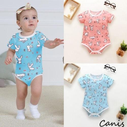73f676666752 0-18M Easter Bunny Infant Kids Baby Girl Boy Romper Jumpsuit Sunsuit Outfits  Summer