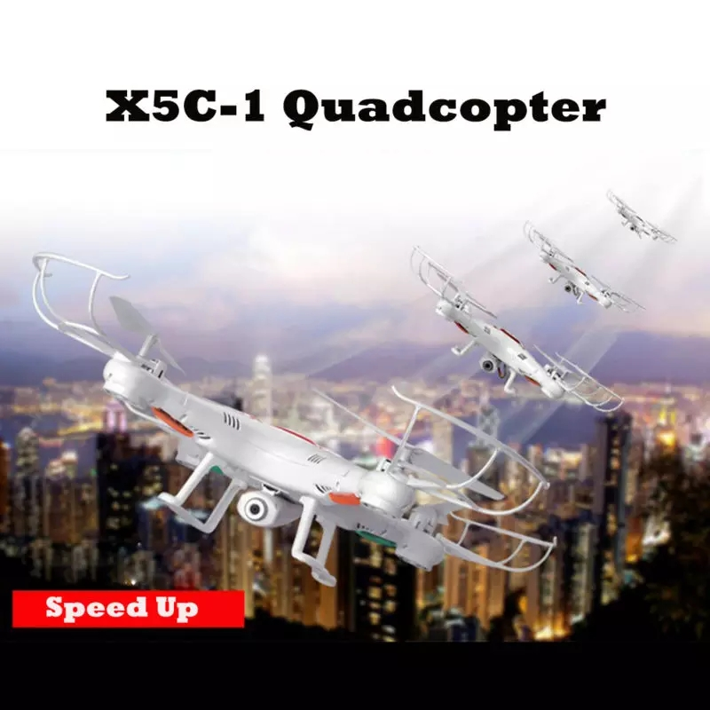 Qcopter QC1 2.4GHZ 6-axis Gyro Drone with Camera LED Lights and 2X Bonus Batteries