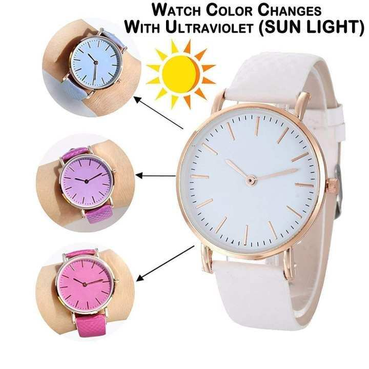 Magic Color Changing UV Analog Water Proof Wrist Watch For Men & Women