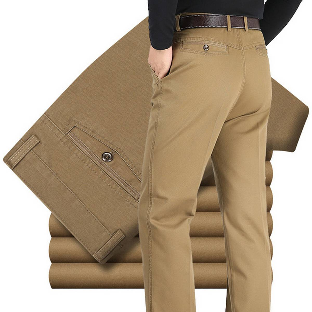 Trending Cotton Jeans Classic Camel Pants for Boys for Formal & Regular use