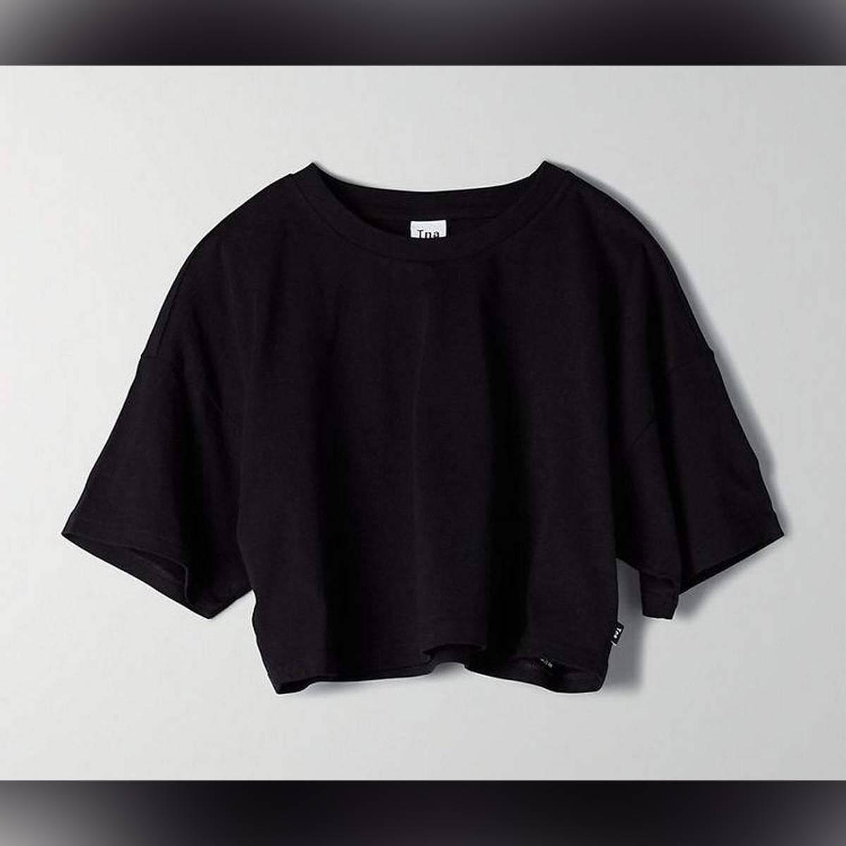 Zedberry Crop Cotton Tshirt For Womens