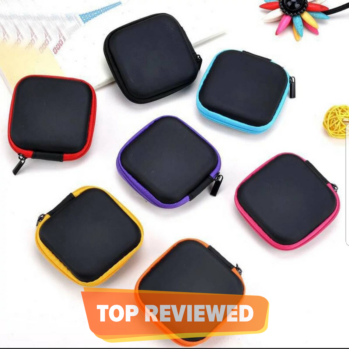 Handfree Cover Charger Hard Case eva Earphone Earbuds Handfree Square Shape Storage Handsfree Cable Key Pouch Zipper Fabric Saftey Mini Box
