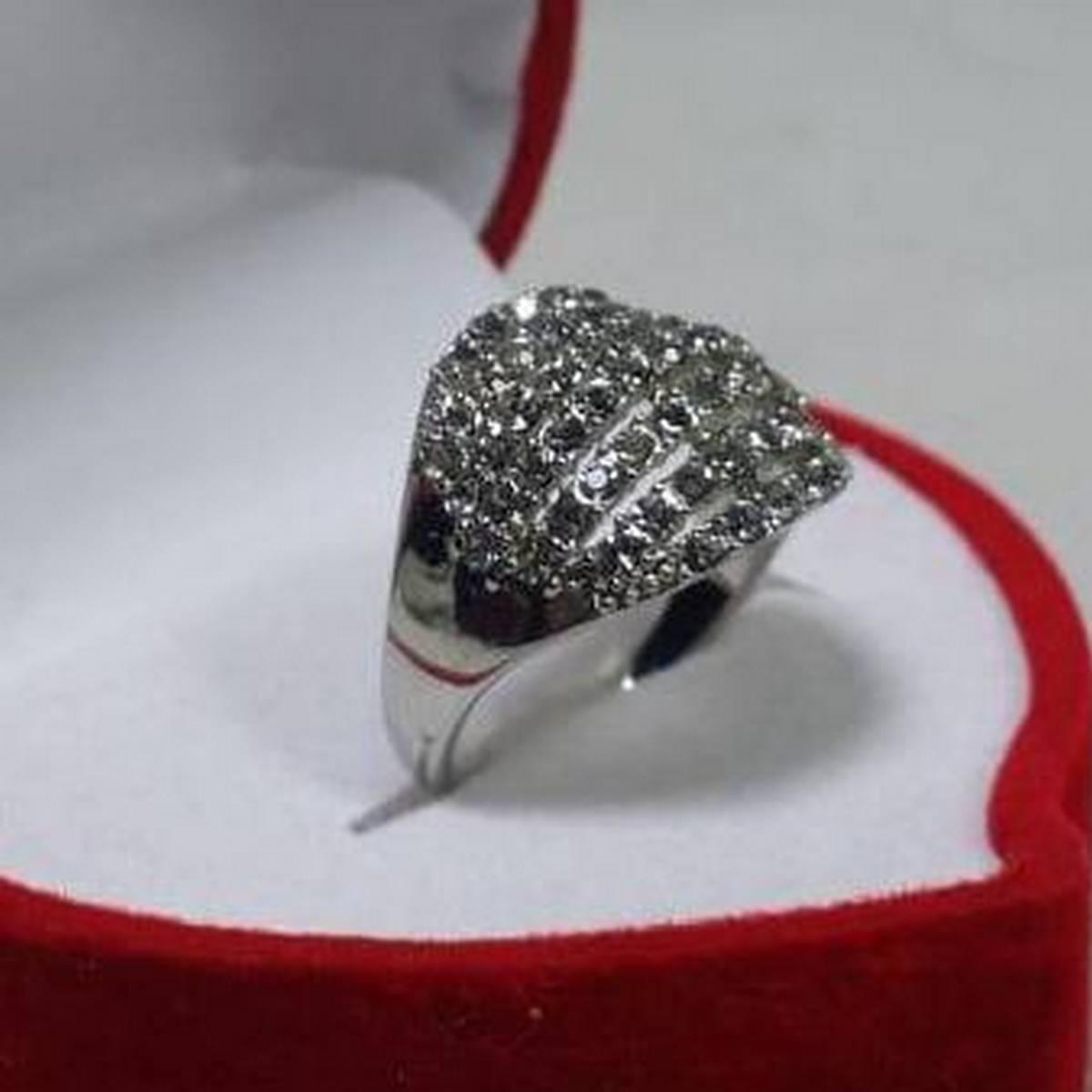 Trendy Wedding & Engagement Bridal Silver Ring For Girls & Women