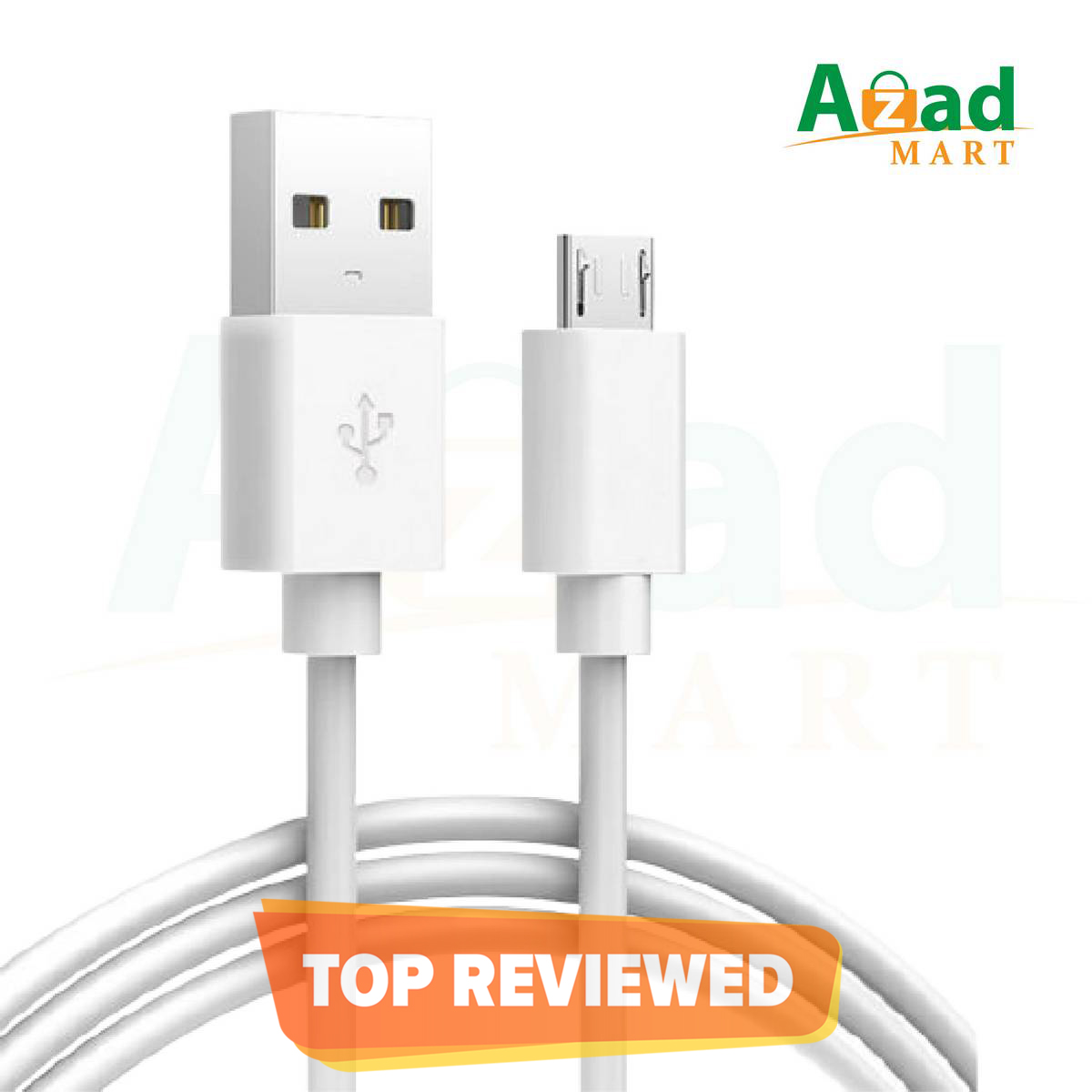 Micro USB Fast Charging Data Cable 2.0 1 Meter | 100% Genuine High Speed USB Cable Compatible with all Android Devices.