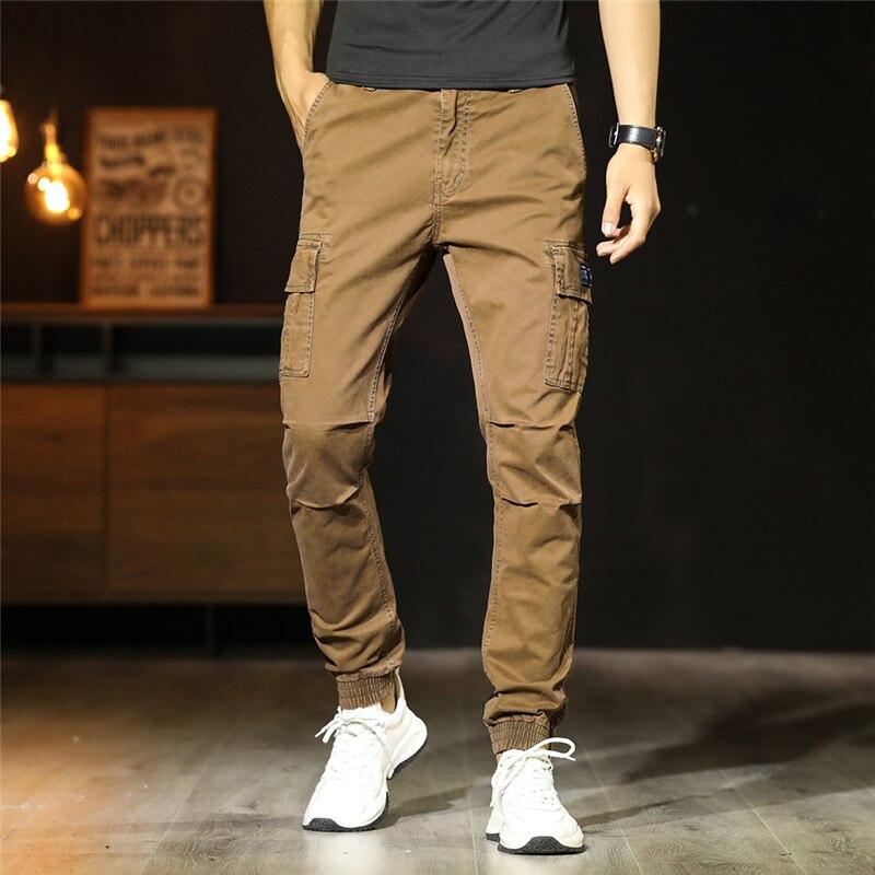 Men Cargo Trouser slim fit Khaki CT-007