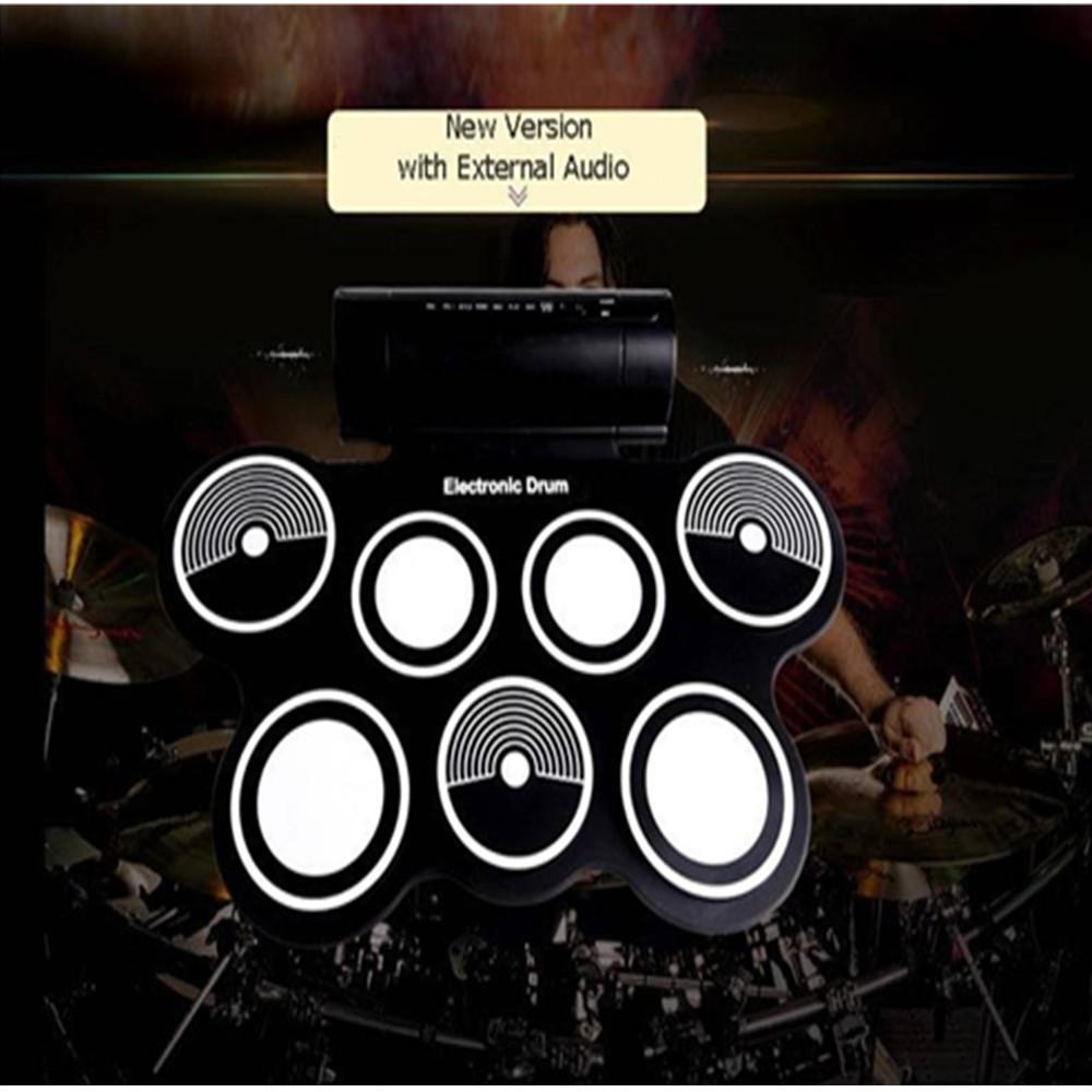 USB Midi Roll-up Electronic Drum Pad Kit w/sticks And Free Guitar Capo Game